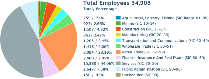 Total Employees by Industry