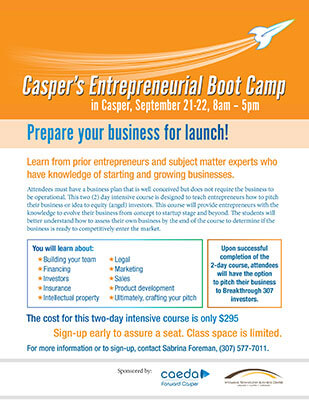 Entrepreneur Boot Camp flyer graphic